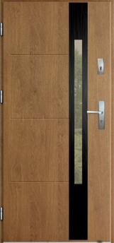 Vchodové dveře do domu MIKEA Thermika Elevado 1 T7 s vitráží