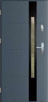 Vchodové dveře do domu MIKEA Thermika Elevado 1 T9  s vitráží