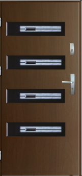 Vchodové dveře do domu MIKEA Thermika Vetro s vitráží