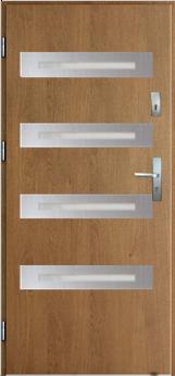 Vchodové dveře do domu MIKEA Thermika Escada s vitráží