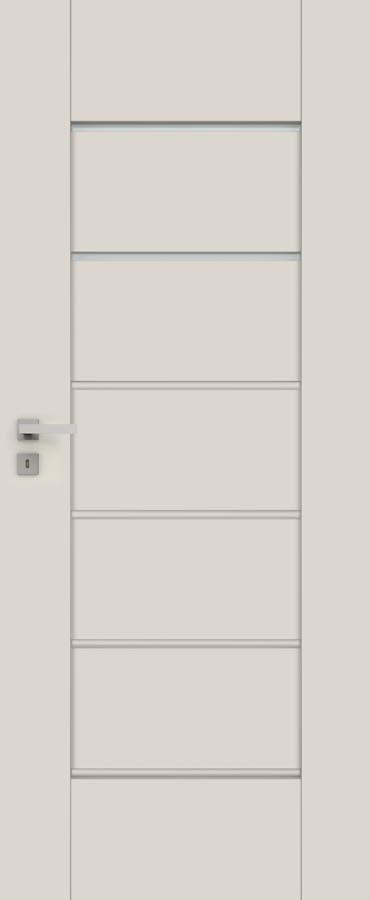 Interiérové dveře DRE EVEN 5 (2 skla + 4 vložky v barvě dekoru)