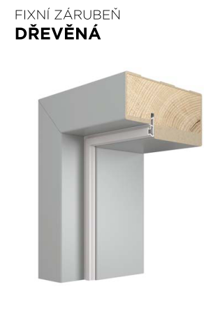 Pevná zárubeň VIVENTO dřevěná - dekory CPL a CLP