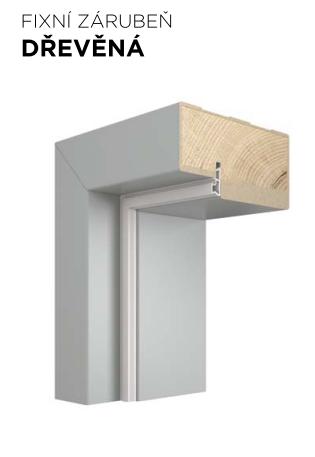 Pevná zárubeň VIVENTO dřevěná -  dekory FF a LAK