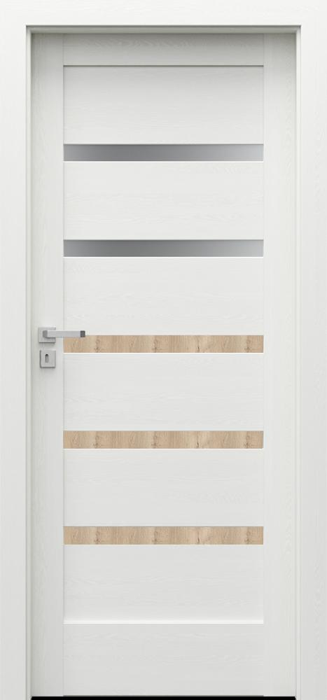 Interiérové dveře VERTE HOME H2 s dekorační lištou