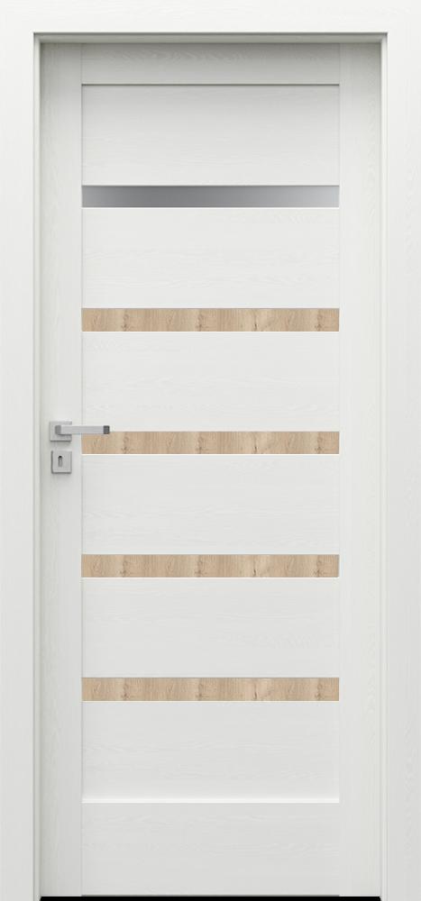Interiérové dveře VERTE HOME H1 s dekorační lištou