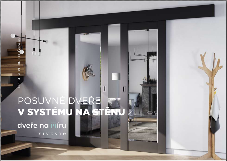 Posuvný systém  VIVENTO - posuvné dveře v systému na stěnu