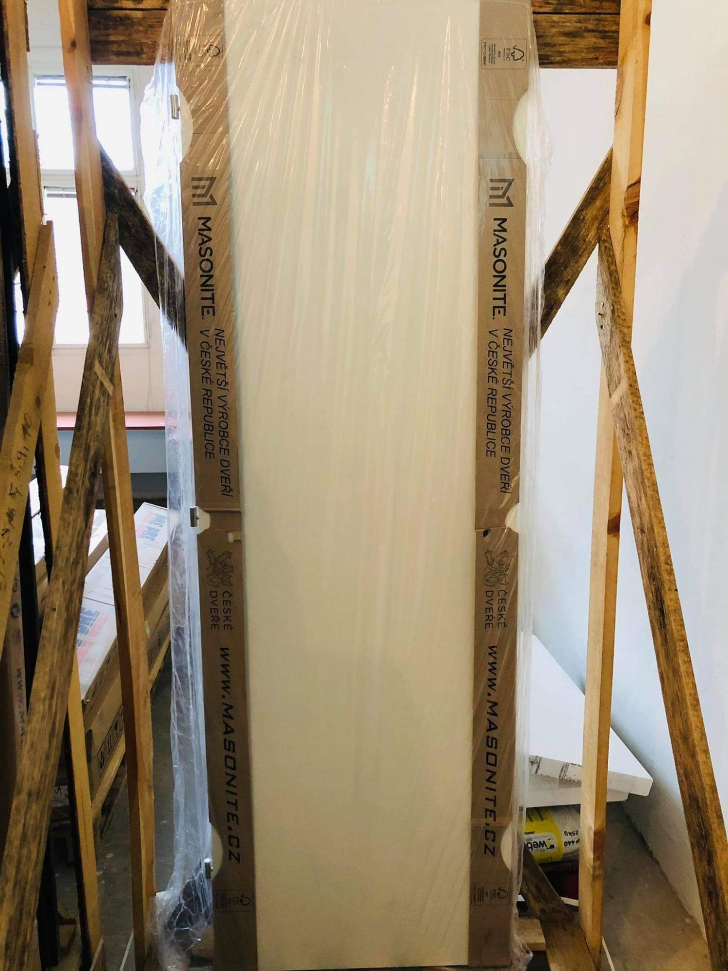 Masonite plné hladké CPL bílá 60L WC zámek
