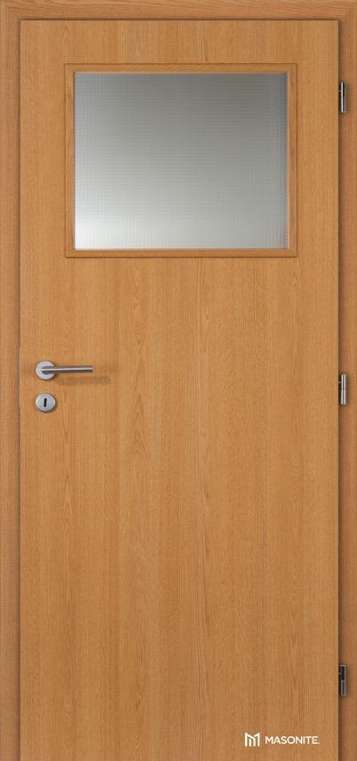 Interiérové protipožární dveře Masonite prosklené 1/3 CPL Standard