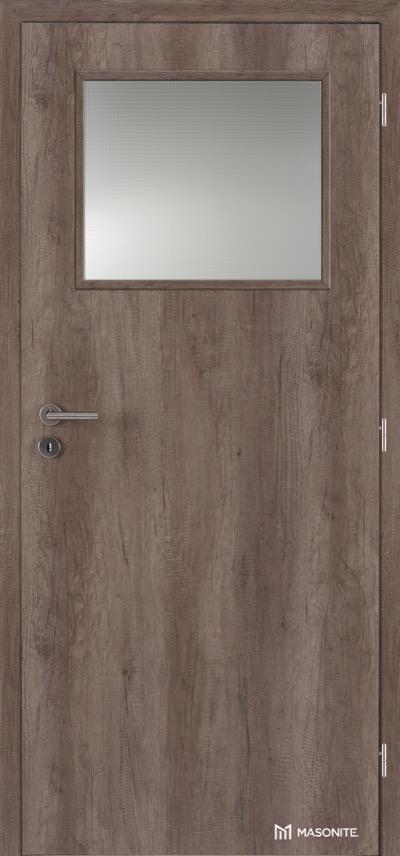 Interiérové protipožární dveře Masonite Prosklené 1/3 CPL premium