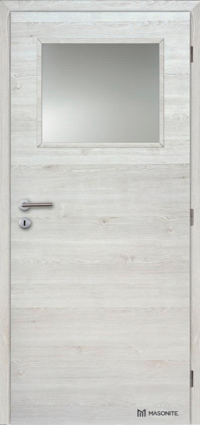 Interiérové protipožární dveře Masonite Prosklené 1/3 CPL Deluxe