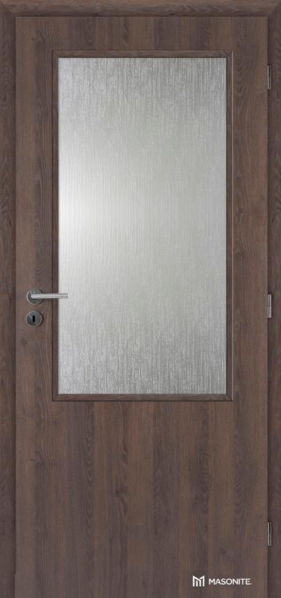 Interiérové protipožární dveře Masonite Prosklené 2/3 CPL Deluxe