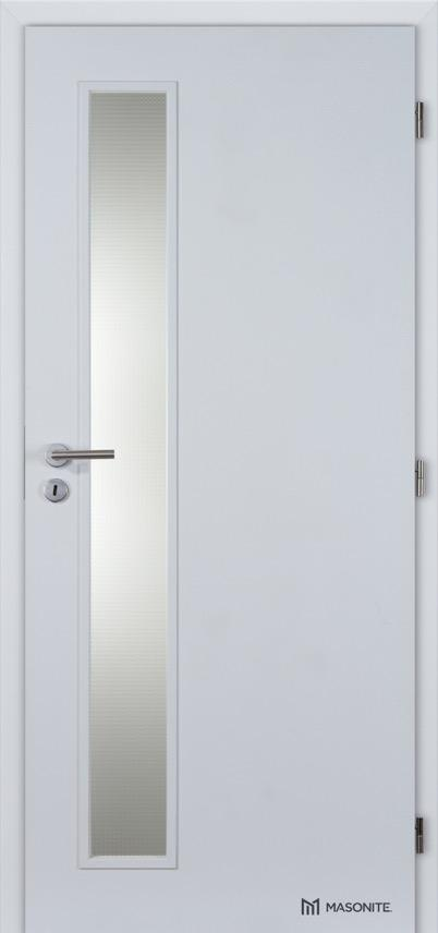 Interiérové protipožární dveře Masonite VERTIKA sklo CPL Standard