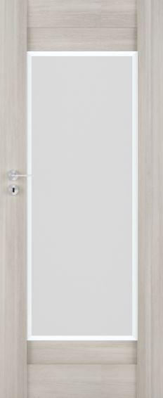 Bezfalcové rámové interiérové dveře VIVENTO - PRESTIGE PO - 02