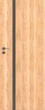 Bezfalcové deskové interiérové dveře VIVENTO - BASIC  - ASTORIA BLACK