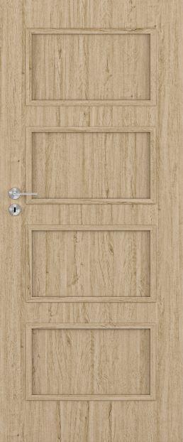 Bezfalcové deskové interiérové dveře VIVENTO - BASIC  - MANHATTAN 0/4