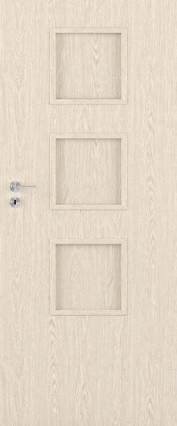 Bezfalcové deskové interiérové dveře VIVENTO - BASIC  - MACADI-3 0/3